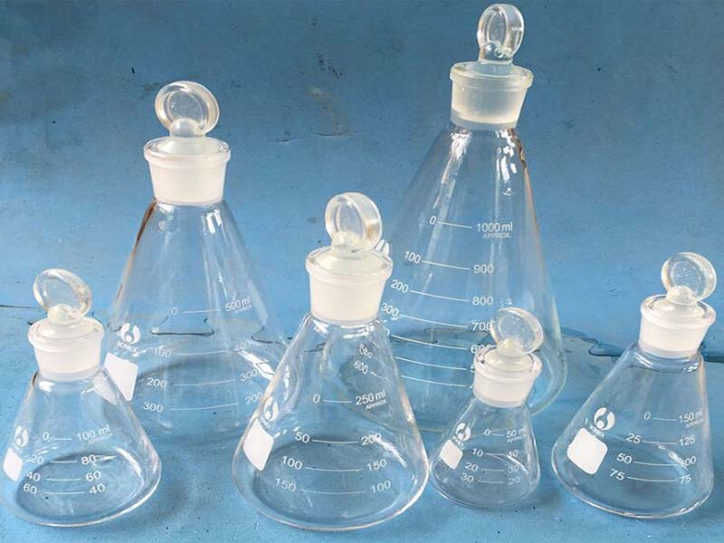 Conical Flask With Glass Stopper