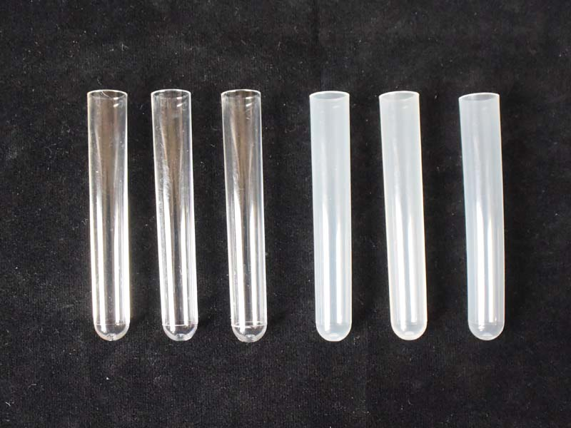 Test Tubes Plastic Round Bottom